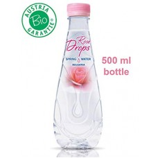 Rose Drops | Mountain Spring Drink Water With Organic Rose Oil Extract